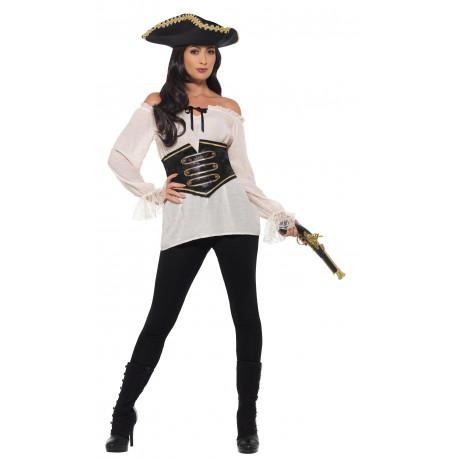 Camisa Pirata con Corpiño para Mujer