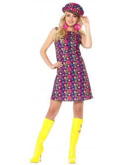 Disfraz de Hippie Años 60 Multicolor para Mujer
