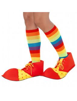 Zapatos de Payaso Amarillos y Rojos