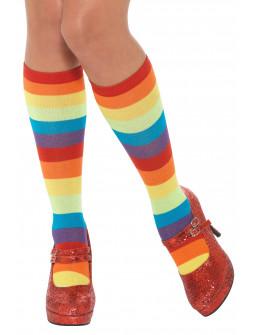 Calcetines de Payaso Arcoíris para Adulto