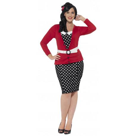 Disfraz Pin Up Años 50 en Talla Grande para Mujer