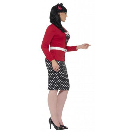 Disfraz Pin Up Anos 50 En Talla Grande Para Mujer Comprar