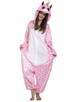 Disfraz de Unicornio Rosa Ojazos para Adulto