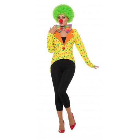 Chaqueta de Payaso Amarilla con Lunares para Mujer