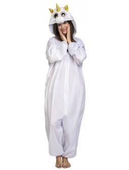 Disfraz de Unicornio Blanco Ojazos para Adulto
