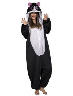 Disfraz de Gato Negro Ojazos para Adulto