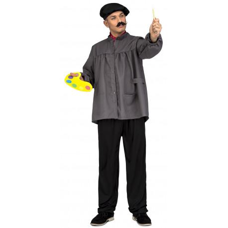 Disfraz de Pintor con Paleta y Pincel para Hombre