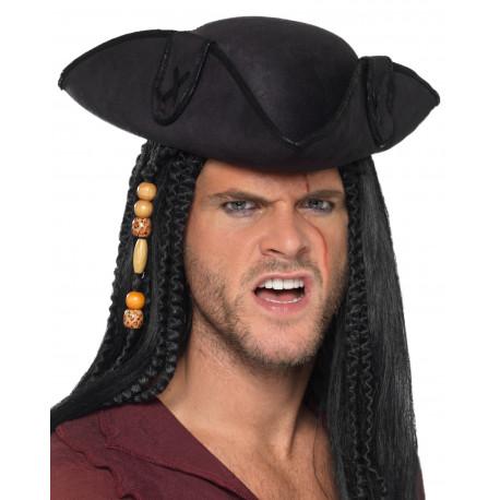 Sombrero de Capitán Pirata Negro