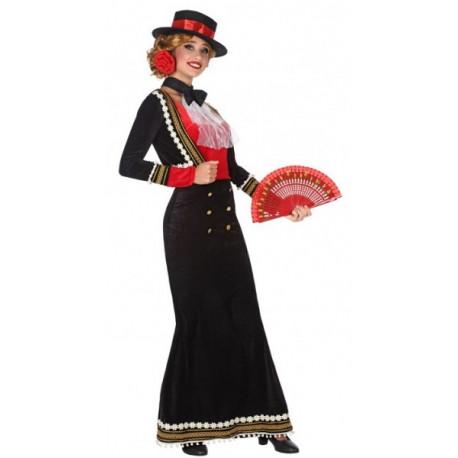 Disfraz de Cordobesa Negro Largo para Mujer