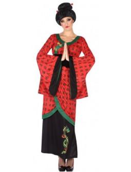 DIsfraz de Emperatriz China Roja para Mujer