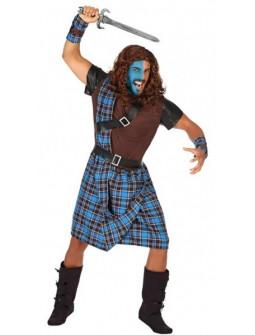 Disfraz de Guerrillero Escocés Azul para Hombre