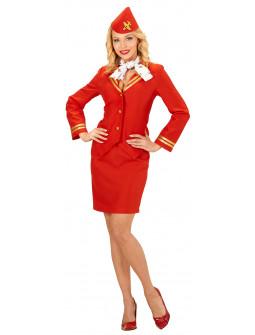 Disfraz de Azafata en rojo