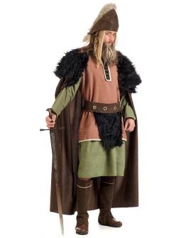 Capa Medieval Negra y Marrón Premium