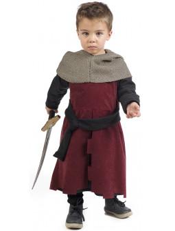 Disfraz de Caballero Medieval Granate para Bebé