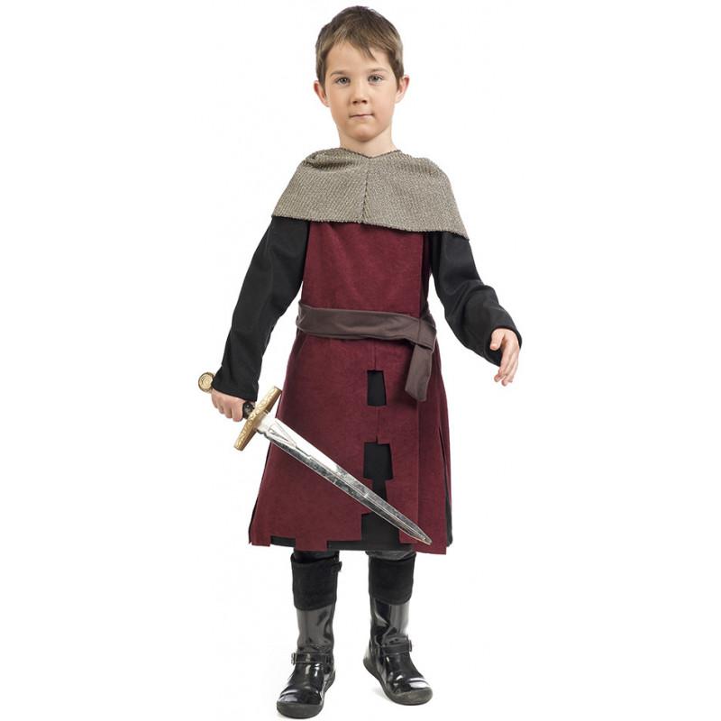 9b04d59e1 Disfraz de Caballero Medieval Granate para Niño