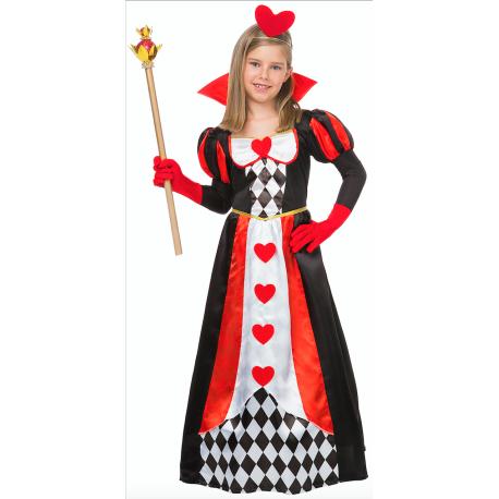 Disfraz de Reina de Corazones Elegante para Niña