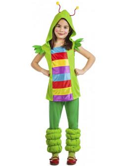 Disfraz de Gusano Colorido para Niña