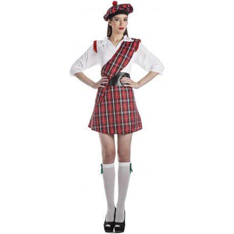 Disfraz de Escocesa para Mujer
