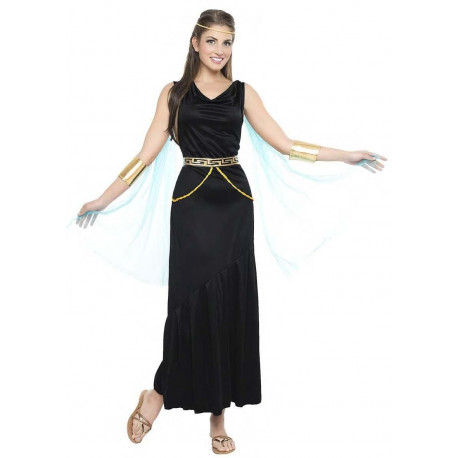 Disfraz de Dama Griega Negro para Mujer