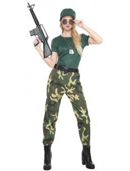 Disfraz de Militar de Camuflaje para Mujer