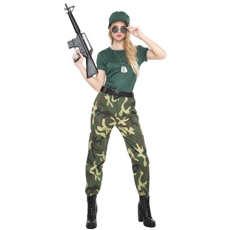 Disfraz de Militar de Camuflaje para Mujer abf8c12a2a2