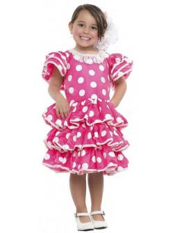 Disfraz de Sevillana Rosa para Niña
