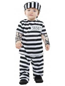 Disfraz de Preso con Tatuajes para Bebé