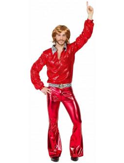 Disfraz Disco Años 70 Rojo para Hombre