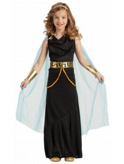 Disfraz de Dama Griega Negro para Niña