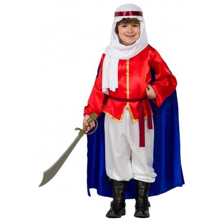 Disfraz de Príncipe Árabe con Capa para Niño