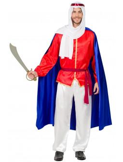 Disfraz de Príncipe Árabe con Capa para Hombre