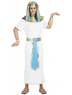 Disfraz de Faraón Egipcio Dorado y Azul para Hombre