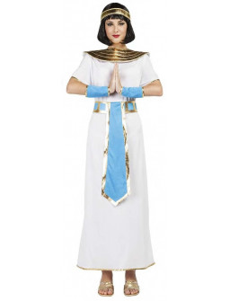 Disfraz de Cleopatra Dorado y Azul para Mujer