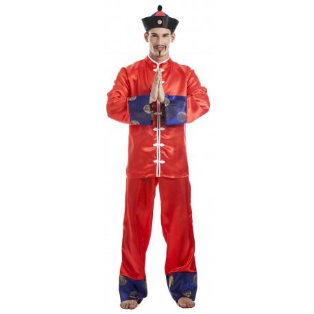 Disfraz de Chino con Sombrero para Hombre