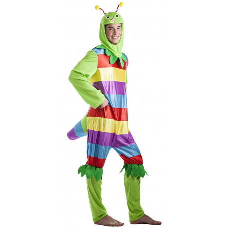 Disfraz de Gusano Colorido para Hombre
