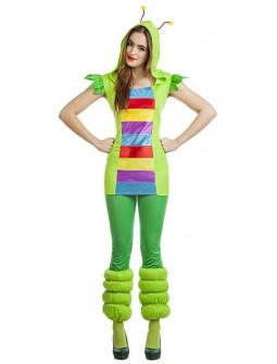 Disfraz de Gusano Colorido para Mujer