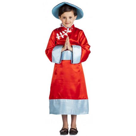 Disfraz de China con Sombrero para Niña