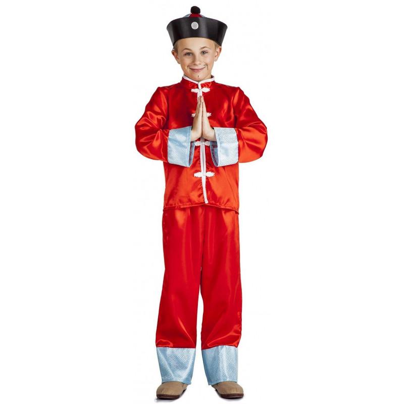 Disfraz de Chino con Sombrero para Niño  82450b0e5c7