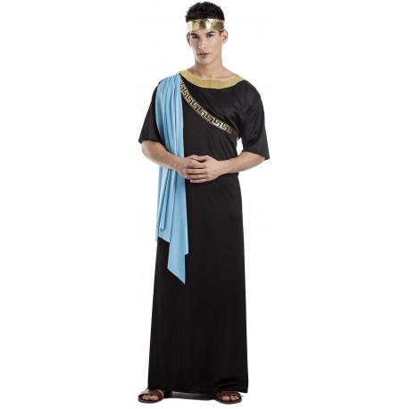 Disfraz de Senador Romano Negro para Hombre