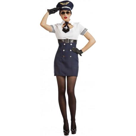 Disfraz de Piloto de Avión Sexy para Mujer