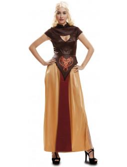 Disfraz Daenerys Marrón Medieval para Mujer