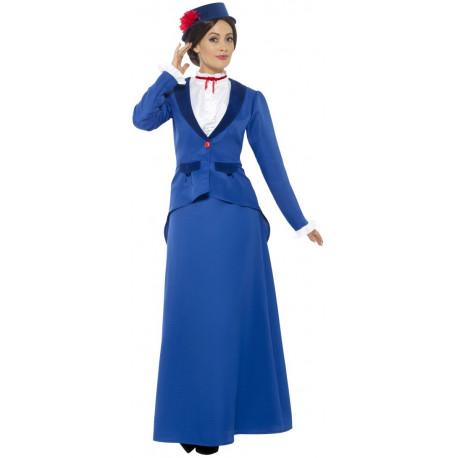 Disfraz de Mary Poppins Azul para Mujer