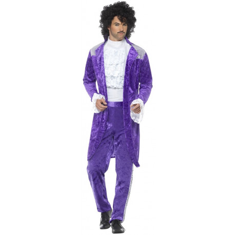 Disfraz de Prince Morado para Hombre