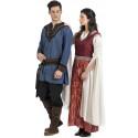 Disfraz de Conde Medieval Azul para Hombre