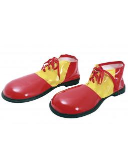Zapatos de Payaso Amarillos y Rojos para Adulto