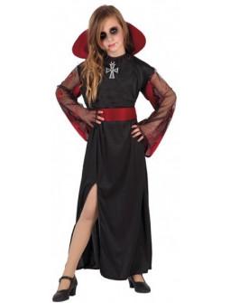 Disfraz de Vampiresa Negra para Niña