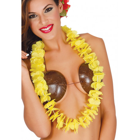 Collar Hawaiano Amarillo