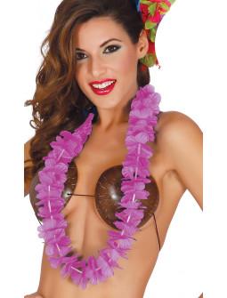 Collar Hawaiano Rosa