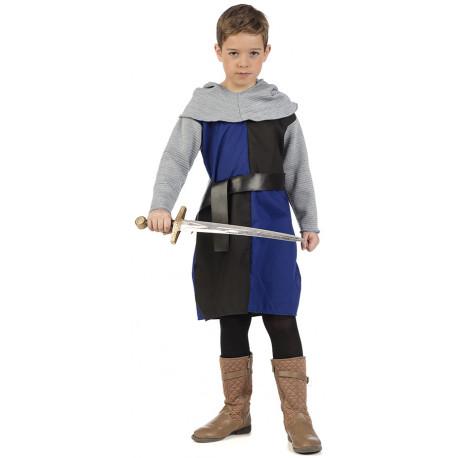 Disfraz de Caballero Cruzado Medieval Azul Infantil