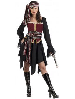 Disfraz de Pirata Bucanera Deluxe para Mujer